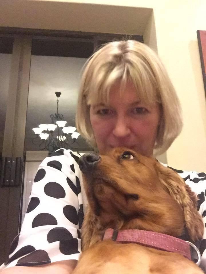 Lianie Dalby with Douglas (Spaniel)